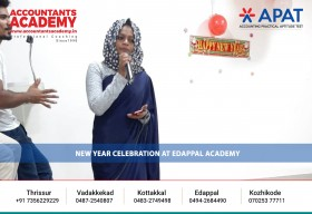 New Year Celebration at Accountants Academy Edappal.