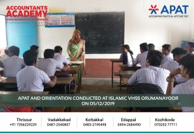 Don't follow people. Make your own path to success. APAT and Orientation conducted at Islamic VHSS Orumanayoor on 5th December.