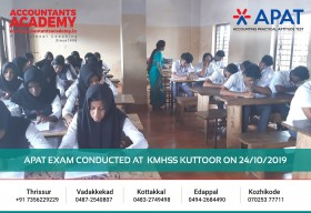 Explore your future in Accounting Career. APAT Exam conducted at KMHSS Kuttoor on 24th October.