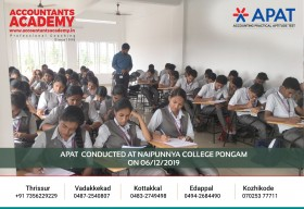 Embrace perseverance, if you want to replace failures with victories. APAT conducted at Naipunnya college Pongam on 6th December.
