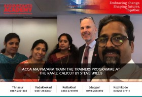 ACCA MA/PM/APM train the trainers programme at the Raviz,Calicut by Steve Willis