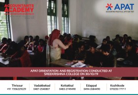 Lead a life with a career of your dreams. APAT Orientation & Registration conducted at Sree Krishna College on 30th October.