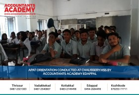 Hoping you will reach great heights.  APAT Orientation Conducted at Chalissery HSS by Accountants Academy, Edappal