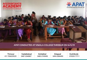 Let try and Victory be your only choices. APAT conducted at Vimala College Thrissur on 14th November.