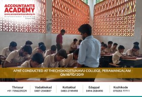 Right decision at the right time can straighten up the road toward success. APAT conducted at Thechokkottukavu College, Peramangalam on 16th October 2019.