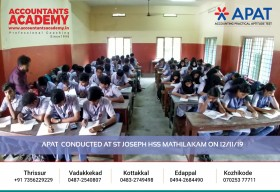 If you wish to become a great person, stop lazing around & start working. APAT conducted at St Joseph HSS Mathilakam on 12th November.