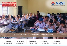 Success is not far, but it is not near either. APAT conducted at GVHSS Kondotty on 15th November.