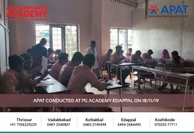 If you're smart & good with numbers, you should be an Accountant. APAT conducted at PG Academy Edappal, on 18th November.