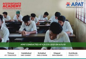 Focus on your goal first! APAT conducted at ICA College on 4th November.