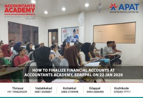 The art of keeping an eye on the numbers! Training on 'How to finalize Financial Accounts' held at Accountants Academy, Edappal on 22nd January 2020.
