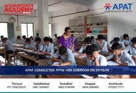 Every opportunity becomes a possibility if you start believing in yourself. APAT conducted at PPTM HSS Cheroor on 29th October.