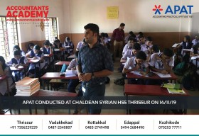 Trying is inevitable if you're not ready to fail. APAT conducted at Chaldean Syrian HSS Thrissur on 14th November.