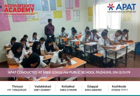 Find opportunities instead of excuses! APAT conducted at Sree Gokulam Public School Pazhuvil on 12th November.