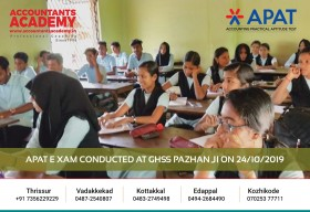 It is never too late to try, no matter what the results would be. Try anything and everything. APAT Exam conducted at GHSS Pazhanhi on 24th October.