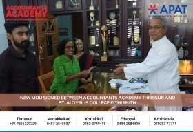 New MOU signed between Accountants Academy Thrissur& St.Aloysius college Elthuruth