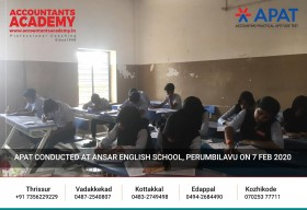 Be the best. Not anything less. APAT conducted at Ansar English Medium School, Perumbilavu on 7th February 2020.