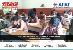 Bang all the doors of opportunities. You will find your way in eventually. APAT Exam conducted at Amrita Vidyalayam Thrissur on 25th October.