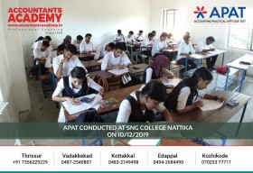 Small attempts will take you to great places someday. APAT conducted at SNG College Nattika on 10th December.