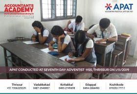 Take the next step in your Accounting future! APAT conducted at Seventh Day Adventist HSS, Thrissur on November 1st.