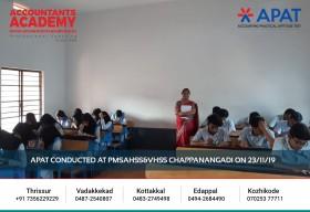 A small attempt today can make a huge difference tomorrow! APAT conducted at PMSAHSS &VHSS Chappanangadi on 23rd November.
