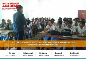 APAT orientation conducted at SN Trust Higher Secondary School, Nattika by Accountants Academy, Thrissur. We expect our APAT Orientation Classes had a remarkable impact on your career thoughts.