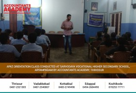 Got an opportunity to guide these little whiz kids!!  APAT Orientation Class Conducted at Sarvodaya Vocational Higher Secondary School, Aryampadam by Accountants Academy, Thrissur