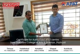 Certificate for Authorised APAT centre