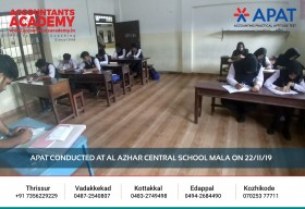 Nobody is born an Accountant! It takes effort and time to reach up there. APAT conducted at Al Azhar Central School Mala on 22nd November.