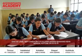 In the middle of the search for Aspiring Accounting Candidates! Test conducted at Kulapati Munshi Bhavans Vidya Mandir, Pottore; in the context of APAT 1st Level Launching.