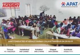 Start with Attempts! Proceed with Hard work! Wind up with Success! APAT conducted at Kerala Varma College on 29th October.