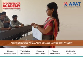 Try hard to uncover the opportunities lying deep within. APAT conducted at Malabar College Manoor on 7th November.
