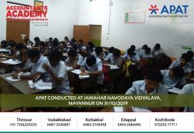 Get past the hurdles to chase after your goals. APAT conducted at Jawahar Navodaya Vidyalaya, Mayannur on 31st October.