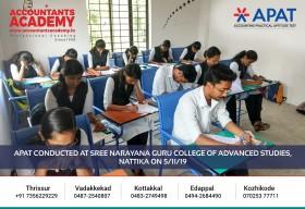 Follow your dream career in Accounting & Commerce. APAT conducted at Sree Narayana Guru College of Advanced Studies, Nattika on 5th November.