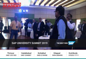 A testament to our commitment to provide the highest quality education to our students, Accountants Academy is proud to have been an active participant to the SAP University Summit 2019 held at Raviz Resort & Spa, Ashtamudi.