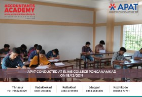 Accounting is amazing, once you get a taste of it! APAT conducted at Elims College Ponganamkad on 18th December.