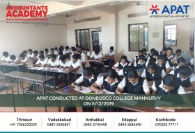 Your future is not written already. You write it yourself. APAT conducted at DonBosco College Mannuthy on 11th December.