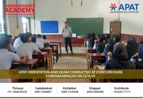 Make your signature, an Audited Financial Statement, with Accountants Academy. APAT Orientation and Exam conducted at Concord EHSS Chiramanengad on 12th November.