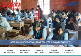 Begin with a spirit. Accomplish all your goals. APAT conducted at Malabar College Vengara on 7th November.