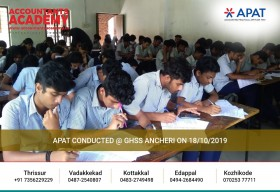 Your future is in your hands. Better handle it the right way. APAT Exam conducted at GHSS Ancheri on 18th October 2019.