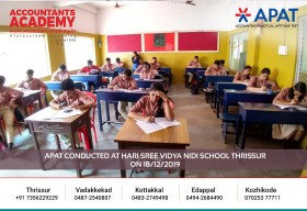 If you had a clear goal, in the beginning, you will have absolute success in the end! APAT conducted at Hari Sree Vidya Nidi School Thrissur on 18th December.