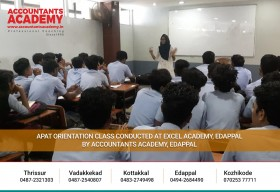 Met with some bright students. Excited to see them becoming great personalities.  APAT Orientation Class Conducted at Excel Academy, Edappal by Accountants Academy, Edappal