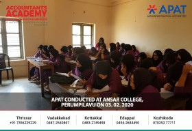 The first step to build a promising career. APAT conducted at Ansar College Perumpilavu on 3rd February 2020.