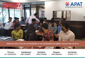 If you want to see the perfect sunset, take the effort to climb up the hill! One day Life Cycle of Accounting at Accountants Academy Calicut on 29th October.