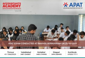 Only you can bring change to your life. Because no one else is going to do it for you. APAT Exam carried out at RMVHSS Perinjanam on 25th October.