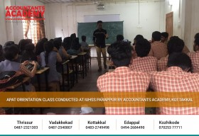 These geniuses are going to change the world!  APAT Orientation Class Conducted at IUHSS, Parappur by Accountants Academy, Kottakkal