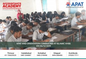 Attempts will make your goals clear. APAT and Orientation conducted at Islamic VHSS on 6th December.