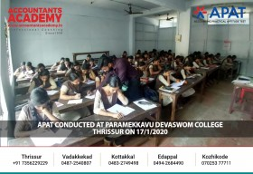 APAT conducted at Paramekkavu Devaswom College, Thrissur on 17/1/2020