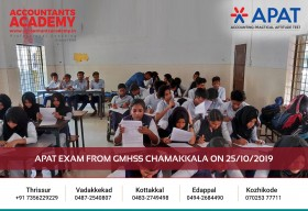 Test your limits first. Then overcome it one by one. APAT Examination held at GMHSS Chamakkala on 25th October.