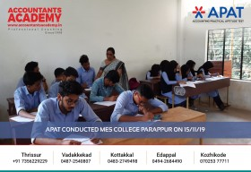 Be an Accountant. Be the alpha among all. APAT conducted at MES College Parappur on 15th November.
