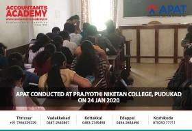 APAT conducted at Prajyothi Niketan College, Pudukad on 24 Jan 2020